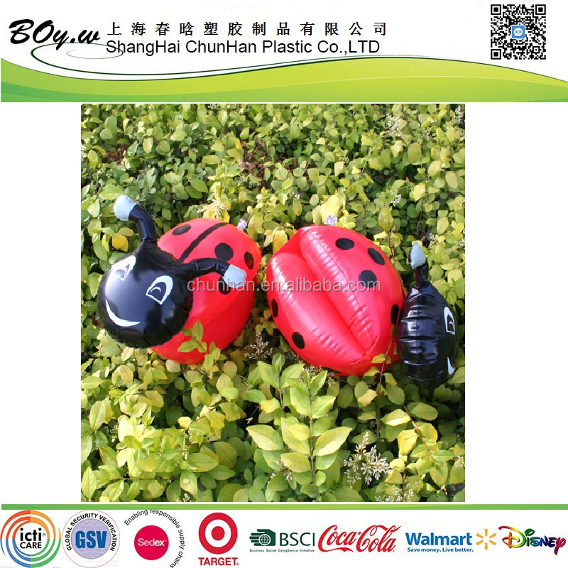 EN71 factory wholesales animal pool float arm rings red swimming pvc kids inflatable ladybug arm band