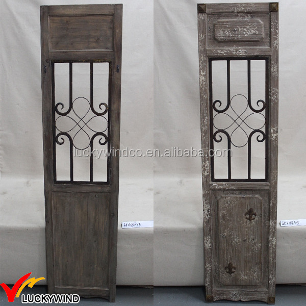 Country Farm Decorative Antique Plain Solid Wood Doors