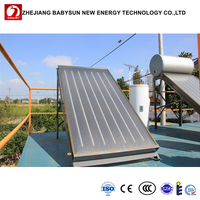 Home use flat plate solar water heater collectors with CE SOLAR KEYMARK