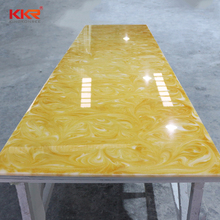 Best Price Translucent Onyx resin Stone in yellow Color