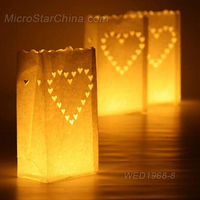 FengRise Wholesale Christmas Luminaire Candle Bags