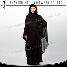 MD Z010 Wholesale black abaya sleeves designs 2015 Hot sale muslim dress dubai black abaya High quality plain black abaya