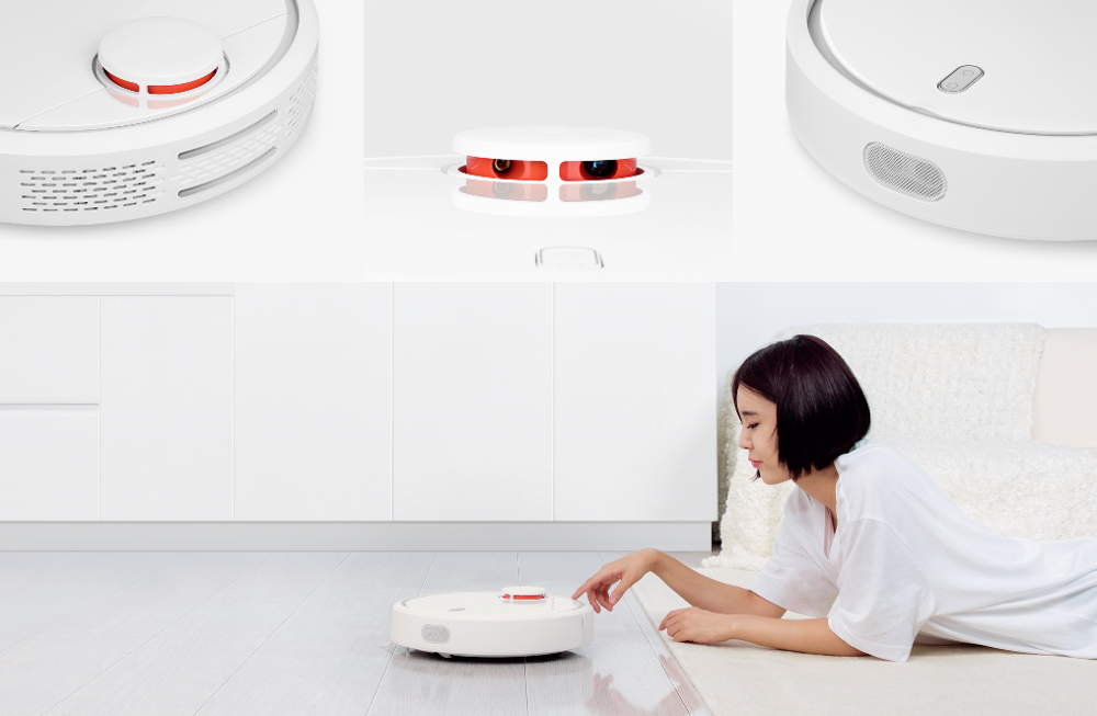New & Original XIAOMI Mi Robot Automatic Sweeping Dust Sterilize Smart Device Mobile App Remote Control Vacuum Cleaner White