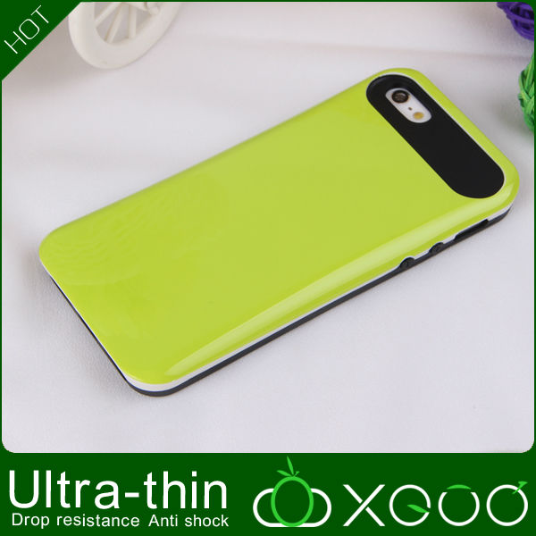 Rubber pc +silicone for phone case iphone5