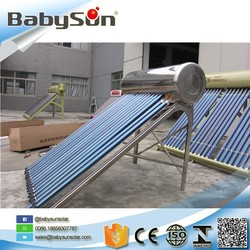 High pressure solar thermal heat pipe vacuum tube solar water heating system