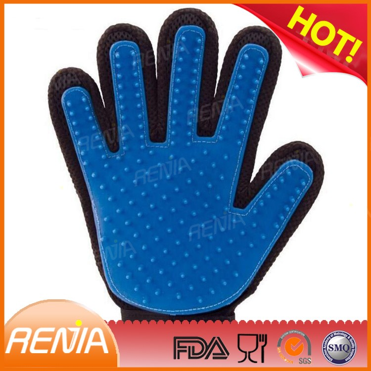 RENJIA silicone Grooming brush Removing Hair for Dog Pet Grooming Glove