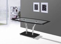 modern tempered glass coffee table /New design iron leg coffee table