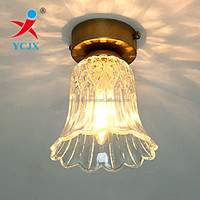 TRANSPARENT FLOWER SHAPED GLASS CEILING LIGHT COVERS