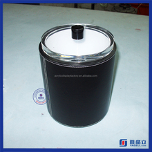 Yageli new design round acrylic storage box with lid and handle