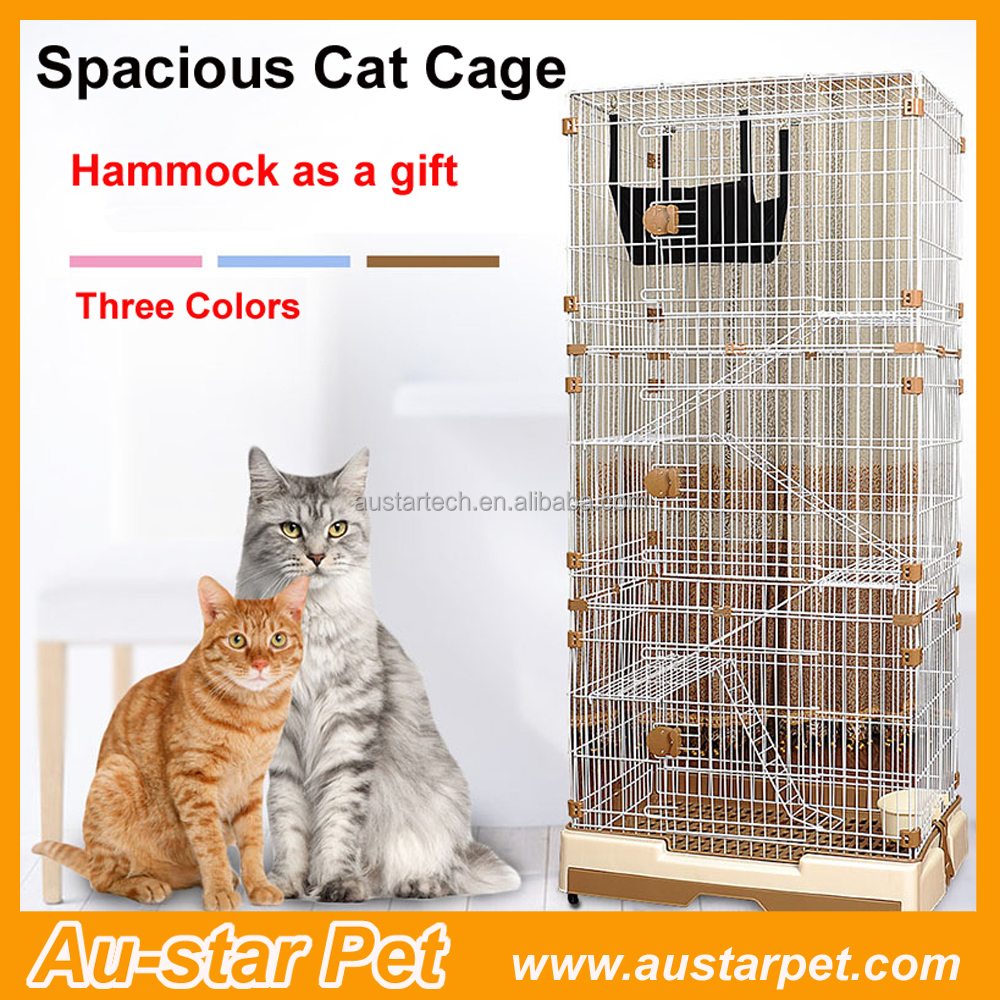 Steel 2-3 layers Luxury Big Cat Cages with Hammock Gift