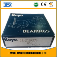 63/22-2RS KOYO deep groove ball Motorcycle Wheel Bearing