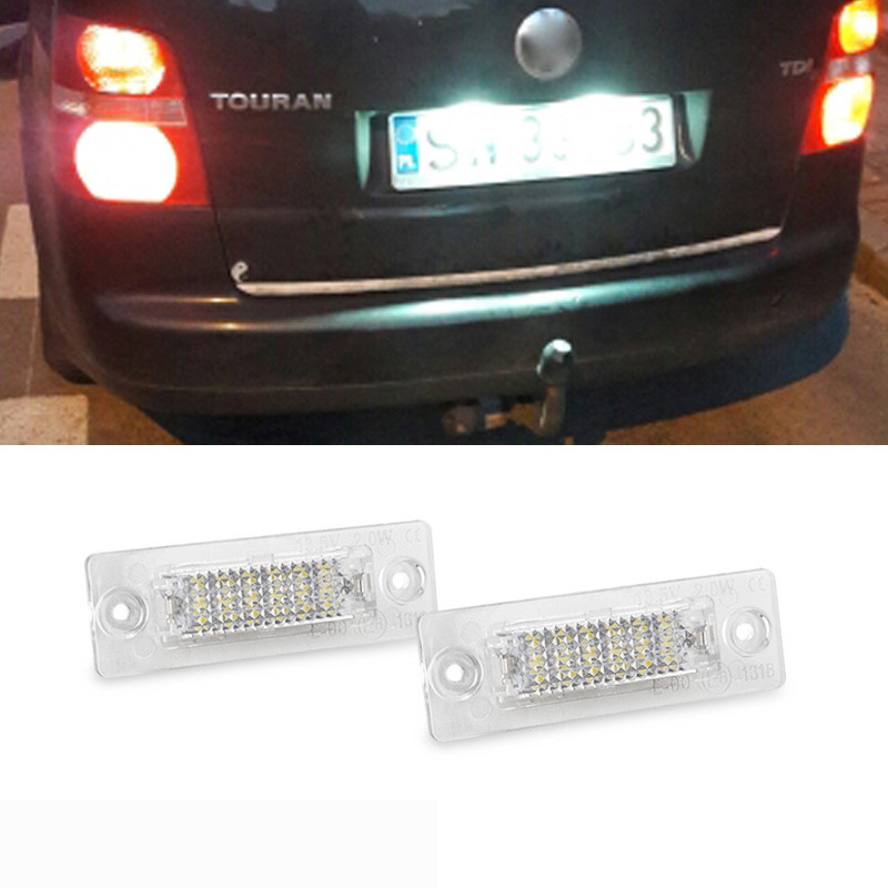 for Audi for vw Touran passat with E-mark certificate Car led license light plate lamp