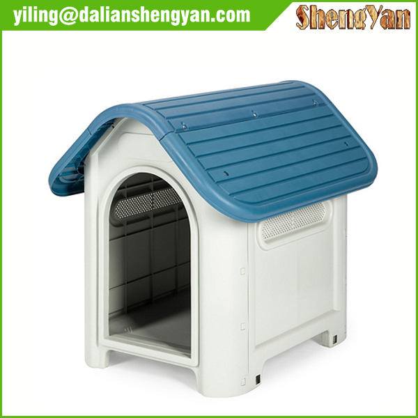 Pet Dog House Plastic Puppy Room Indoor & Outdoor Shelter