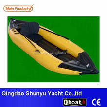 CE 2.8m 1 person inflatable fishing kayak best selling for sale