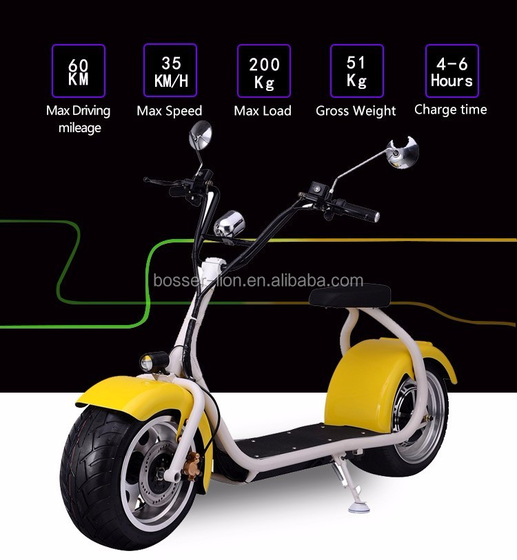 CityCoco with seat electric scooter,adults electric motorbike, chepper harley