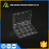 China OEM folding plastic tray blister 12 packs quail egg cartons for sale