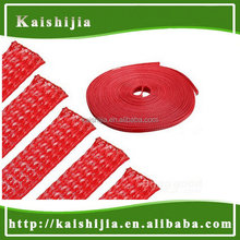 12mm Red Braided PET Expandable sheathing Auto Wire cable Gland Sleeving