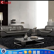 American style living room furniture leather sofa set design