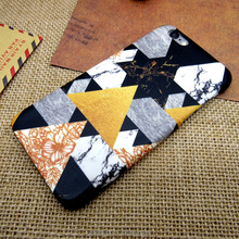 New Style Marble Geometric patterns Hard Back Cover Case for iPhone 5/SE/6/6plus/ 7/ 7plus