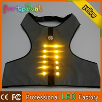 wholesale flashing led plain dog t-shirts vest