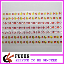 Promotional beautiful acrylic wall mirror stickers/stone sticker/crystal stickers