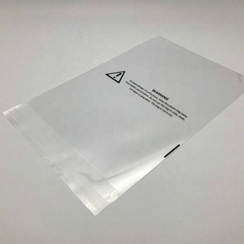 custom cellophane polybag packaging clear plastic opp poly bag with suffocation warning bags