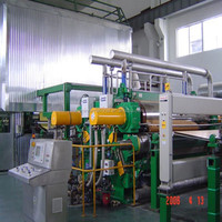 Kraft carton paper making machine with complete production line ! Raw material: waste paper, straw, bagasse, bamboo, etc.
