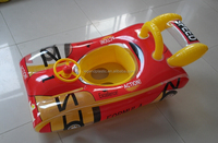 Inflatable race car baby seat/Inflatable baby float