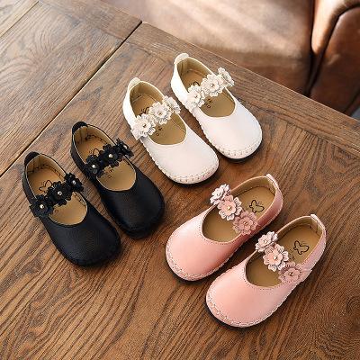5c1272025eb3 Comprar zapatos directo de China de zapato de bebé barato flor zapatos de  cuero niños