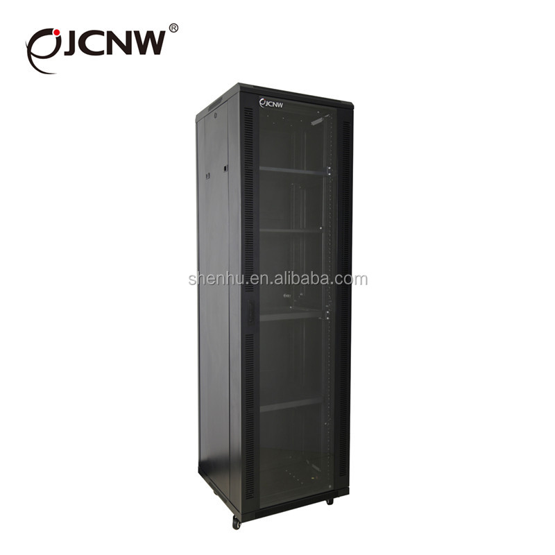 Beautiful glass front door 19 inch 42U server rack
