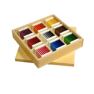 Chinese Preschool Sensorial Wooden Montessori Toys Color Tablets Box