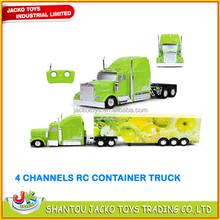 RC tractor trailer 1:38 4 channels RC container truck with light