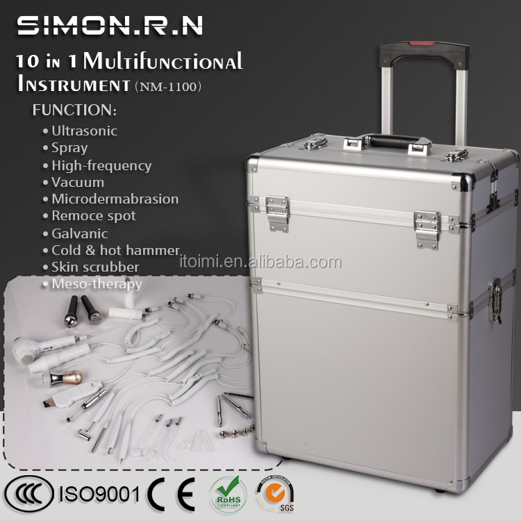 10 IN 1 Multifunction beauty equipment china beauty salon equipment skin care facial Portable machine for beauty salon