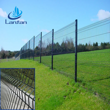 Galvanized/PVC coated square post welded wire mesh fence /cheap fence