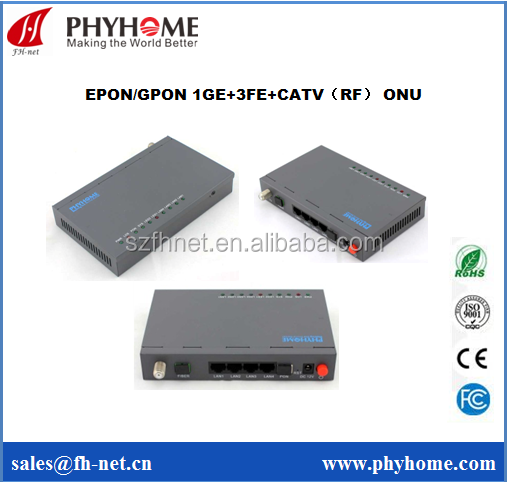 EPON 4FE with RF CATV ONT ONU Compatible with Huawei MA5608T ZTE C300 OLT