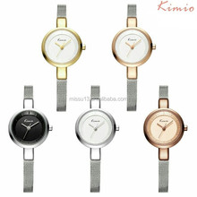 2016 thin mesh alloy strap japan movt quartz kimio watch women fashion wrist watch