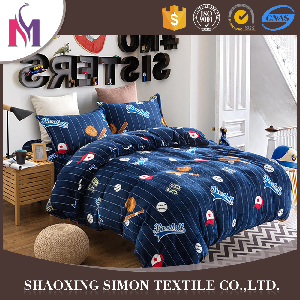 Simon Emboss Flannel Bedsheet Famous Brands Set King Size Bedding Sets