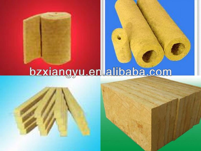 Rock Wool Board/Roll/Blanket/Pipe Insulating Material for Heater Pipes