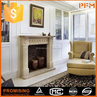 Hand Carved Marble water heating fireplace