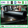 Great Wall 1mm black Fabric surface Hypalon rubber sheet