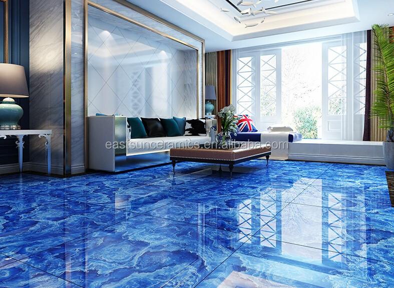 12x12 Ocean Blue Ceramic Floor Tile Design In Pakistan For