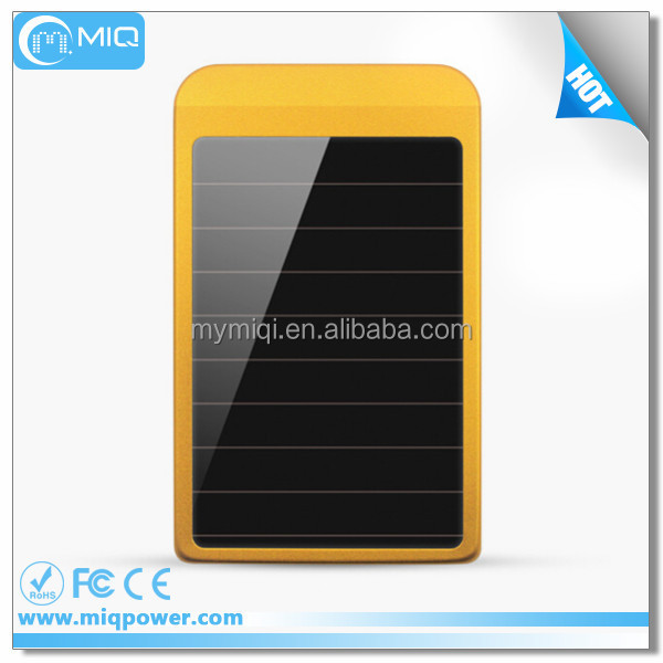 MIQ hot sale portable solar power battery with 2600mah solar charger for mobile phone