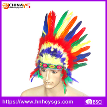 Manufacture supplier AAA prime quality Native Indian carnival feather headgear