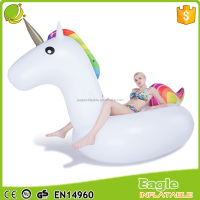 Promotion Large inflatable unicorn float soft plastic unicorn toy life-size Swimming Pool Floaties unicorn for Adults and Kids