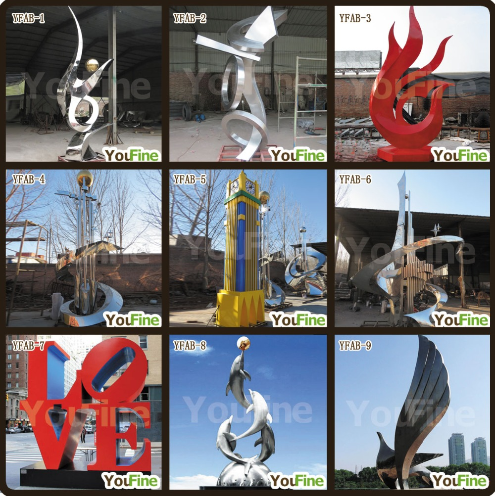 Hot Sale Red Painted Decorated Art Outdoor Stainless Steel Love Sculpture