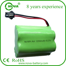 nimh 6.0v 1200mah aa rechargeable battery pack for solar light