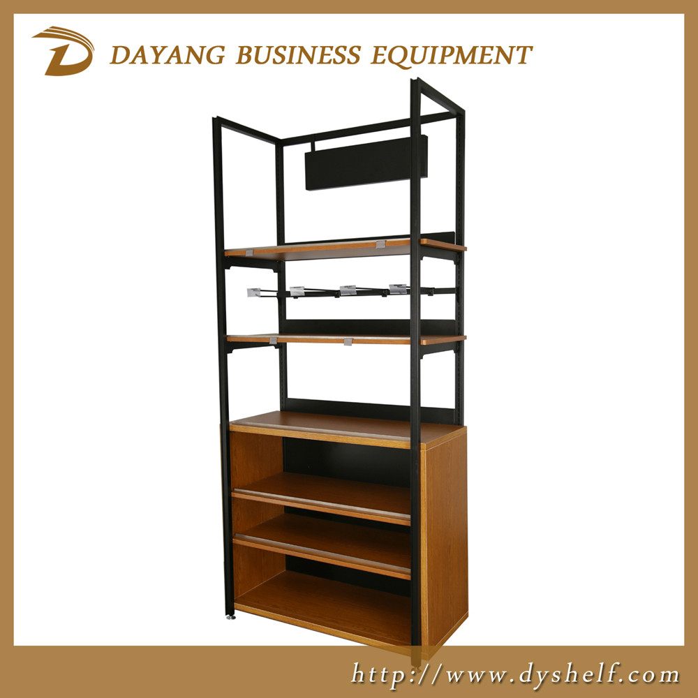 2016 new design France style wooden display racks with metal frame