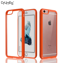 Orange Crystal Clear Shockproof Hard Case Soft TPU Gel Rubber Flexible Frame Bumpers Cover For iPhone6 4.7""