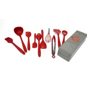 Silicone kitchen utensils heat resistant cooking utensil set