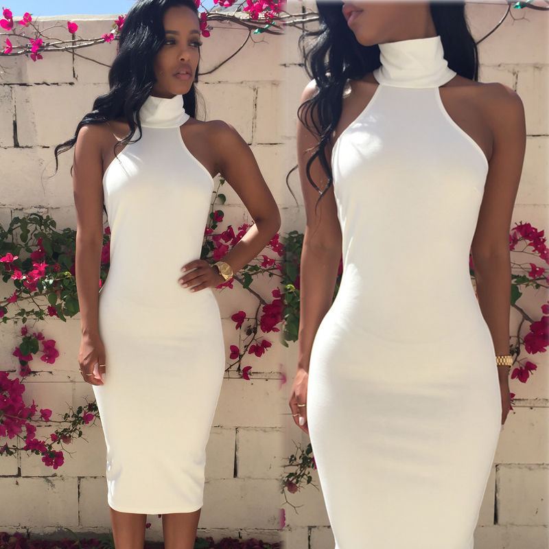 Free shipping until lantern festival Ladies Elegant Party Bandage Bodycon Dresses New Summer Sleeveless Pencil Women Casual Dre